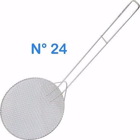 Escumadeira Telada N° 24 Para Pasteis E Frituras