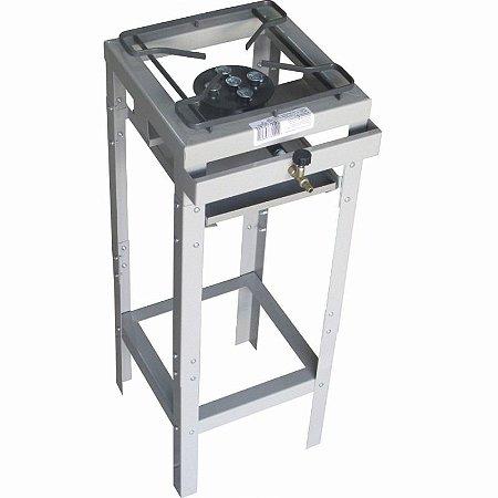 Fogão Semi Industrial 1 Boca Alta Pressão 25 X 25 Queimador 5 Caulins