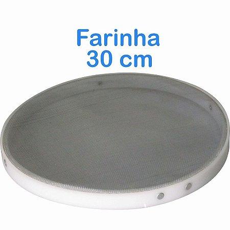 Peneira de Farinha Trigo 30cm com Bordas em Polietileno