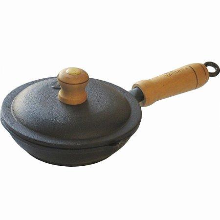 Frigideira Ovos de Ferro Fundido Fast Egg 14cm com Tampa