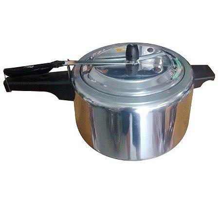 Panela de Pressão em Alumínio Polido 20 Litros com Válvulas de Segurança