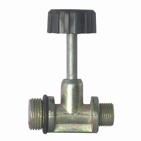 Conexão de Gás com Registro de Alta Pressão 1/8 Macho para P2