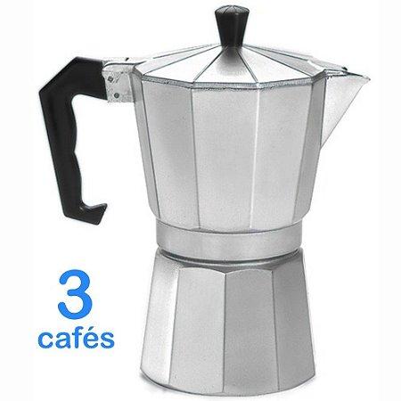 Cafeteira Italiana em Alumínio para 3 Xícaras de Cafés