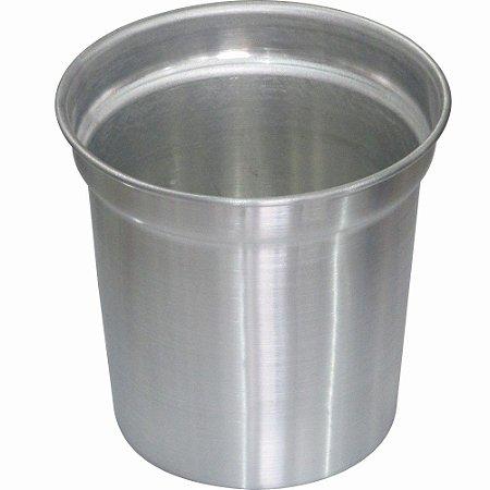 Balde para Conchas de Sorvete Sorveteria ou porção gelo Bebidas de Alumínio Escovado