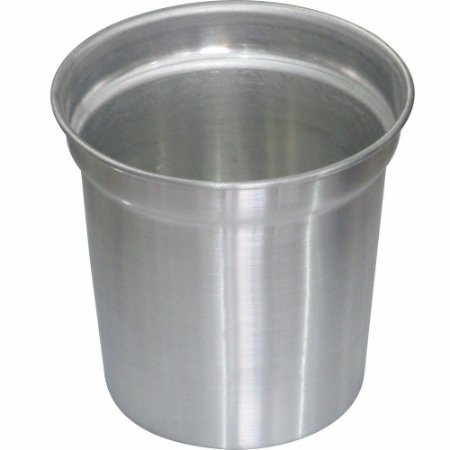 Balde de Alumínio Escovado para Conchas de Sorvete