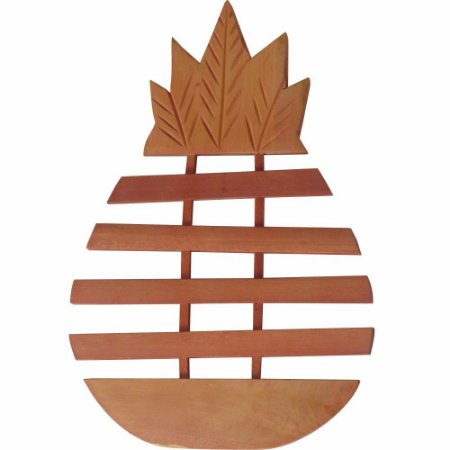 Descanso de Panelas Protetor temperatura para mesas em Madeira Modelo Abacaxi