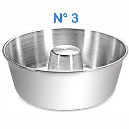 Forma para Bolo e Pudim N° 3 em Alumínio Polido 4,2 Litros