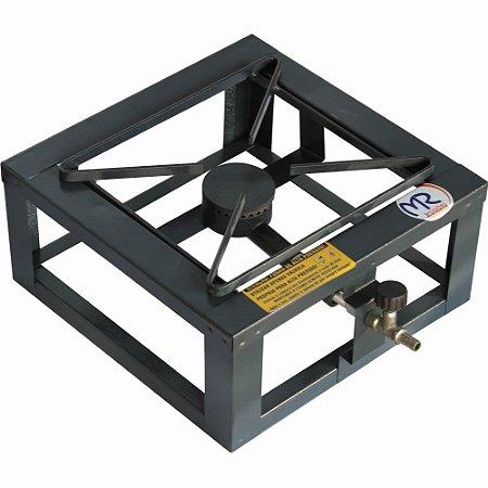 Fogão Industrial 1 Boca 20x20 Alta Pressão de Mesa