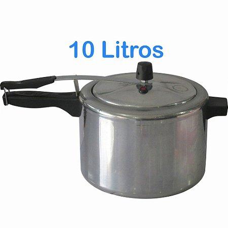 Panela de Pressão Residencial Comercial  10 Litros Alumínio Com Válvula Cozimento Batata Feijão Carne