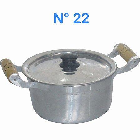 Panela Caçarola de Alumínio Fundido Batido 3,2 litros N° 22