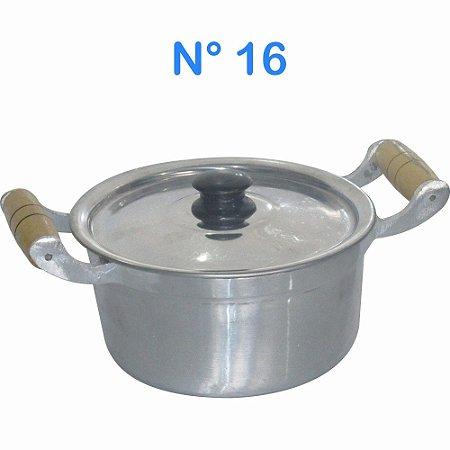 Panela Caçarola de Alumínio Fundido Batido 1,3 litros N° 16