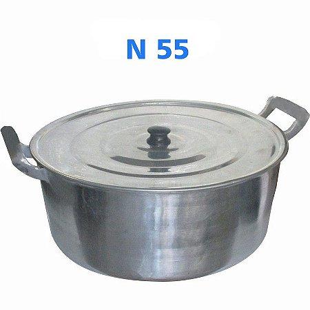 Panela Caçarola de Alumínio Fundido Alumínio Batido N° 55