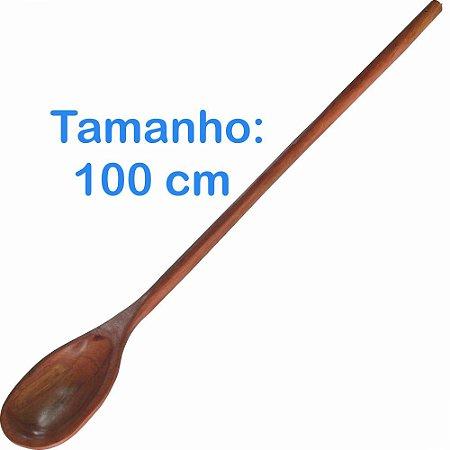 Colher de Pau Madeira 100cm Longa