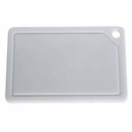 Tabua De Corte Placa 30x20cm Polietileno Branco