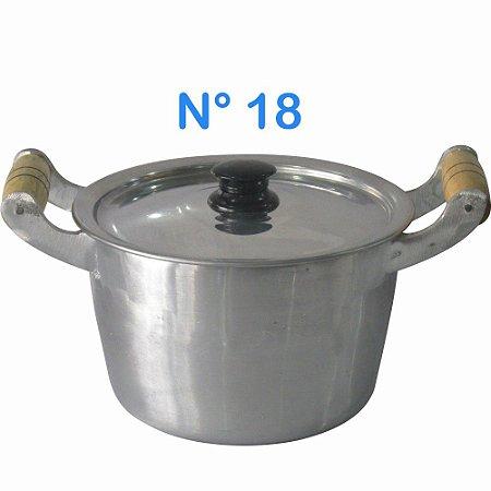 Caldeirão de Alumínio Fundido N° 18 com Alças