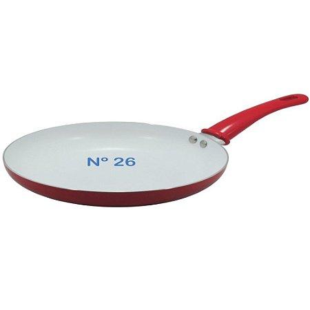 Frigideira N° 26 Vermelha Com Revestimento Cerâmico Anti-adr