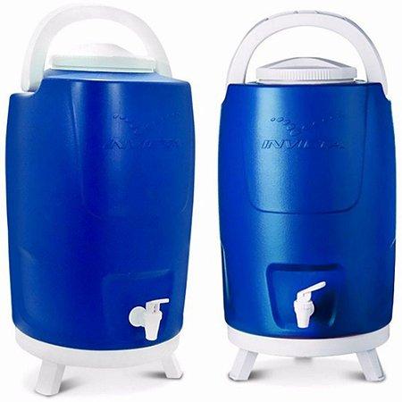 Botijão Térmico 12 Litros Azul Com Pé
