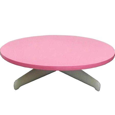 Bailarina Suporte Para Bolos Redonda Rosa 30cm