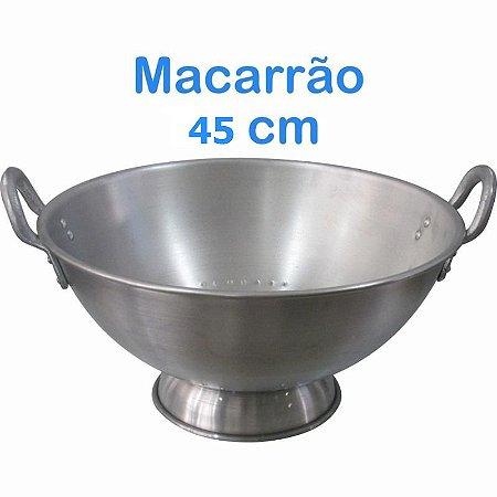 Escorredor de Macarrão de Alumínio Linha Hotel 45 cm