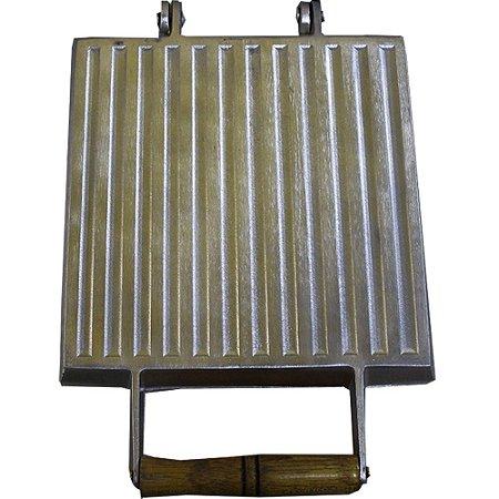 Chapa Para Lanches Multiuso 23x24 Em Alumínio Fundido Bauru