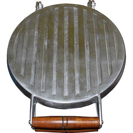 Chapa Para Lanches Multiuso 27cm Em Alumínio Fundido Bauru Redonda