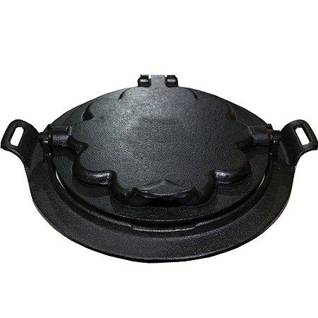 Forma Wafer Ferro Fundido Fogão A Lenha