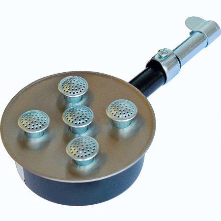 Queimador em Inox com 5 Caulins de Alta Pressão Sem Registro