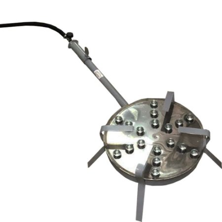 Queimador Em Inox Com 18 Caulins E Registro De Alta Pressão