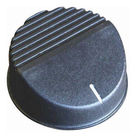 Botão Plástico para Chapas de Lanche Preto