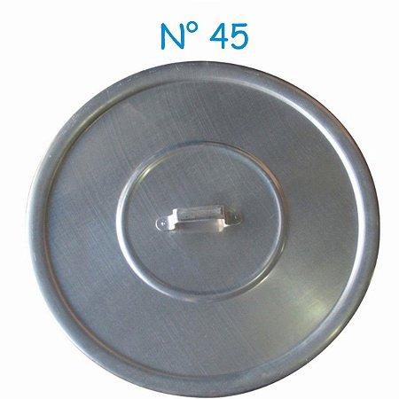 Tampa Avulsa N° 45 de Alumínio com Alça Para Panelas Caçarola e Caldeirão