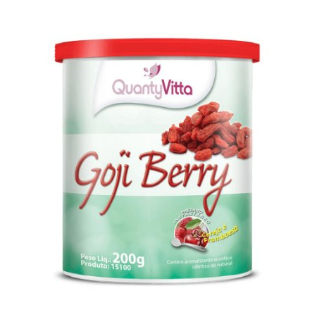 Goji Berry - Solúvel sabor Cereja e Framboesa - 200g - QuantyVitta