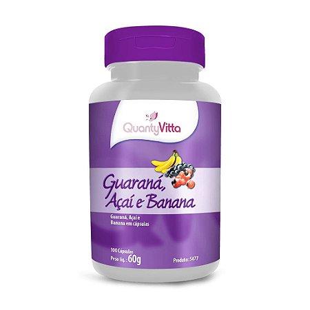 Guaraná, Açaí e Banana em cápsulas - 100 cápsulas - 60g - QuantyVitta
