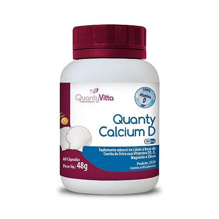 Quanty Calcium D - Suplemento de Cálcio em cápsulas - 60 cápsulas - 48g - QuantyVitta