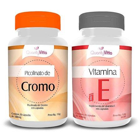 Promoção Combo Picolinato de Cromo + Vitamina E em cápsulas - 1 pote de cada produto