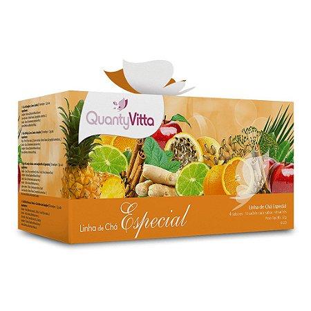 Linha de Chás Especial - 4 sabores - 10 sachês cada sabor - 57g - QuantyVitta