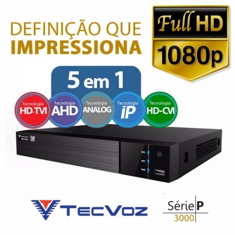 DVR 5 EM 1 TECVOZ 4 CANAIS FULL HD - TW - P3004