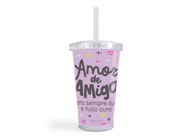 Copo canudo Amor de Amiga