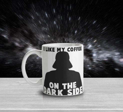 Caneca Dark Side Coffe