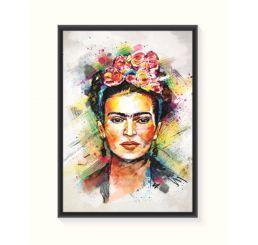Pôster Emoldurado - Frida