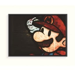 Pôster Emoldurado - Super Mario