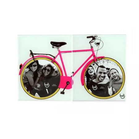 Porta Retrato Duplo Bicicleta