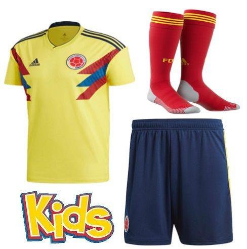 1a1ec6f375 Kit Infantil Seleção da Colombia Home 2018 2019-S N - Rei do Futebol