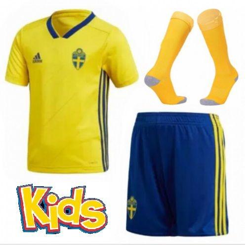 09a7e925ee Kit Infantil Seleção da Suécia 2018 2019-S N - Rei do Futebol