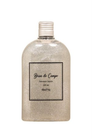 Refil Sabonete Líquido glitter prata 300 ml - Brisa do Campo