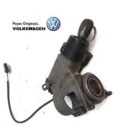 Trava de direção com cilindro, comutador e chave Gol G3