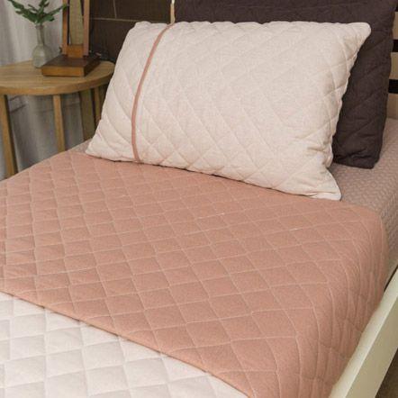 Colcha linho Granada Nude + Porta travesseiro