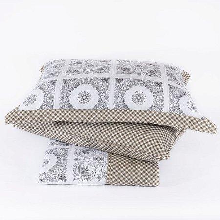 Colcha + Porta Travesseiro Dupla Face Branco