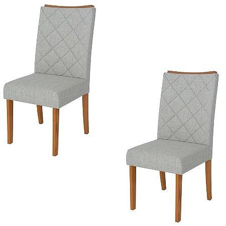 Kit 2 Cadeiras Estofadas Golden Várias Cores - Dj Moveis