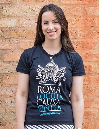 BABY LOOK: ROMA FALOU, ASSUNTO ENCERRADO (preta)