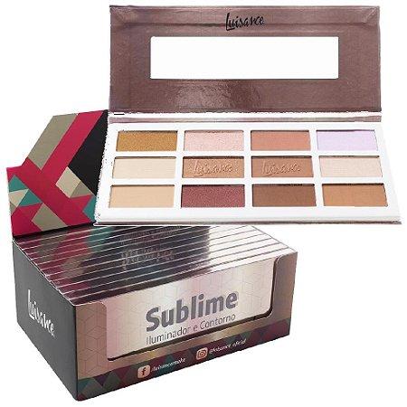Estojo de Maquiagem Sublime Iluminador e Contorno 12 Cores Luisance L7111 - Display C/ 12 Unid